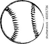 vector baseball sketch   Shutterstock .eps vector #60351736
