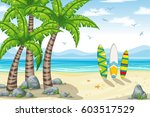 illustration of a tropical... | Shutterstock .eps vector #603517529
