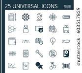 set of 25 universal editable... | Shutterstock .eps vector #603517829