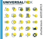 set of 25 universal editable... | Shutterstock .eps vector #603518915