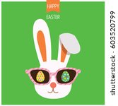 illustration vector of bunny... | Shutterstock .eps vector #603520799