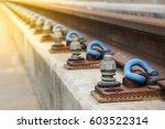 rail fastener for hold rail...   Shutterstock . vector #603522314