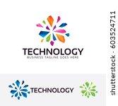 technology  vector logo template | Shutterstock .eps vector #603524711