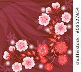wedding card or invitation...   Shutterstock .eps vector #603527654