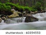 nice waterfall in Hight Tatras - stock photo