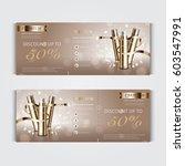 gift voucher hydrating facial... | Shutterstock .eps vector #603547991