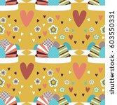 seamless easter card design....   Shutterstock .eps vector #603550331