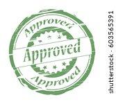 approved grunge stamp. | Shutterstock . vector #603565391