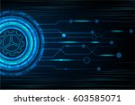 vector circle tech and digital... | Shutterstock .eps vector #603585071