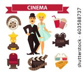 cinema and movie making... | Shutterstock .eps vector #603588737