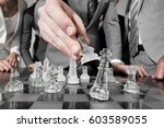 business people team playing... | Shutterstock . vector #603589055