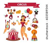 circus show performance... | Shutterstock .eps vector #603589544