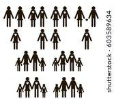 family icons set  | Shutterstock . vector #603589634