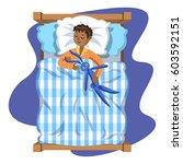 sleeping brunette baby boy with ... | Shutterstock .eps vector #603592151