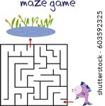 maze game.find your way. | Shutterstock .eps vector #603592325