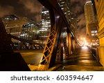 Chicago Bridge At Night