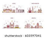 business city in england.... | Shutterstock .eps vector #603597041