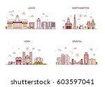 business city in england.... | Shutterstock .eps vector #603597041