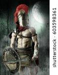 ancient warrior or gladiator... | Shutterstock . vector #603598361