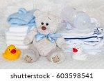 layette for newborn baby | Shutterstock . vector #603598541