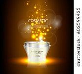 luxury cosmetic bottle package... | Shutterstock .eps vector #603599435
