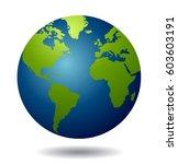 world globe vector | Shutterstock .eps vector #603603191