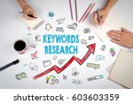 keywords research business... | Shutterstock . vector #603603359