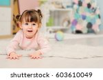cute happy 2 years old baby... | Shutterstock . vector #603610049