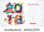 2018 happy new year banner... | Shutterstock .eps vector #603612299