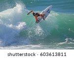 ehukai beach park  oahu  hawaii ... | Shutterstock . vector #603613811