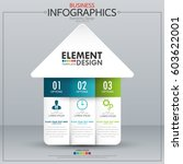 infographic business horizontal ... | Shutterstock .eps vector #603622001