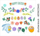 Set Of Spring And Easter...
