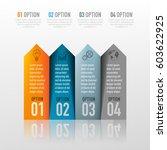 vector abstract 3d digital... | Shutterstock .eps vector #603622925