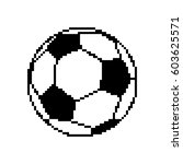 soccer ball pixel art. football ... | Shutterstock .eps vector #603625571