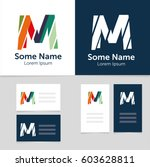 editable business card template ... | Shutterstock .eps vector #603628811