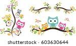 owl cute in vector | Shutterstock .eps vector #603630644