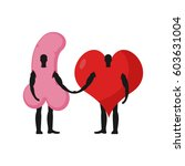 penis and heart friends.... | Shutterstock .eps vector #603631004