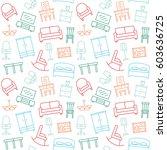 furniture seamless pattern.... | Shutterstock .eps vector #603636725