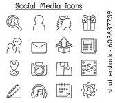 social media   social network... | Shutterstock .eps vector #603637739