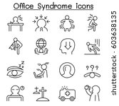 office syndrome   staff health...   Shutterstock .eps vector #603638135
