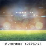 stadium in lights and flashes... | Shutterstock . vector #603641417