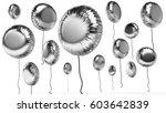 3d rendered silver round... | Shutterstock . vector #603642839