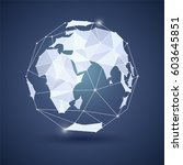 globe or earth icon on dark...   Shutterstock .eps vector #603645851