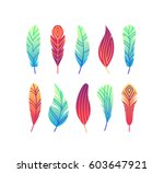 color gradient abstract feather ... | Shutterstock .eps vector #603647921