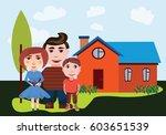 illustration of the family... | Shutterstock .eps vector #603651539
