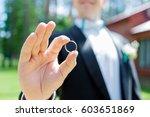 wedding concept. happy groom... | Shutterstock . vector #603651869