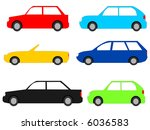 colourful cars with assorted... | Shutterstock . vector #6036583