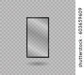 blank mobile  smartphone ... | Shutterstock .eps vector #603659609