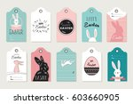 easter tag collection with...   Shutterstock .eps vector #603660905