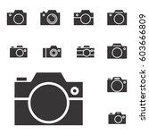 set of photo camera icon or... | Shutterstock .eps vector #603666809